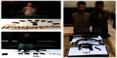 ضبط 4 من العناصر الإجرامية بالجيزة وبحوزتهم قرابة 2 كيلو جرام من مخدر الحشيش و 5 قطع سلاح ناري