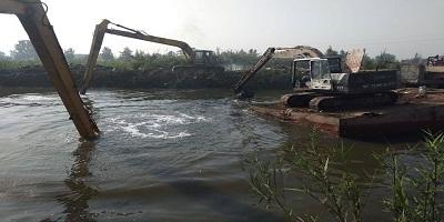 تنفيذ 38 قرار إزالة على المجاري المائية ضمن الموجة 14 بنطاق مراكز ( إدكو والتحرير والرحمانية )