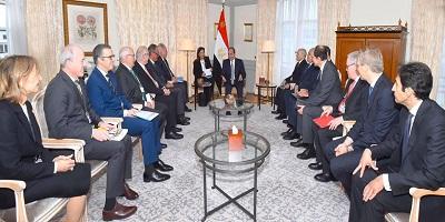 الرئيس السيسي يبحث آفاق تنويع مجالات التعاون العسكري والتصنيع المشترك مع الجانب الألماني