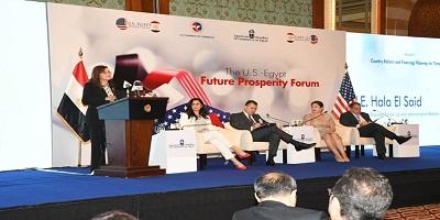 """وزيرة التخطيط تشارك بـ """" منتدى مستقبل الرخاء بين مصر والولايات المتحدة الأمريكية"""""""