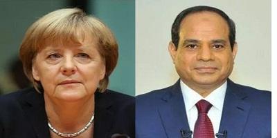ميركل تؤكد للسيسي حرص ألمانيا على تطوير التعاون المشترك مع مصر في مختلف المجالات