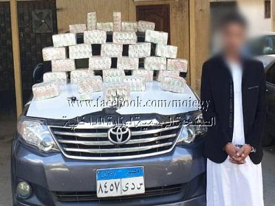 ضبط 30 ألف قرص مخدر بحوزة أحد العناصر الإجرامية تبلغ قيمتها بأكثر من 2 مليون جنيه