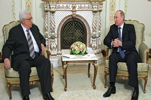 """بوتين يؤكد لـ """"عباس"""" دعمه لحل عادل للصراع الفلسطيني الإسرائيلي"""