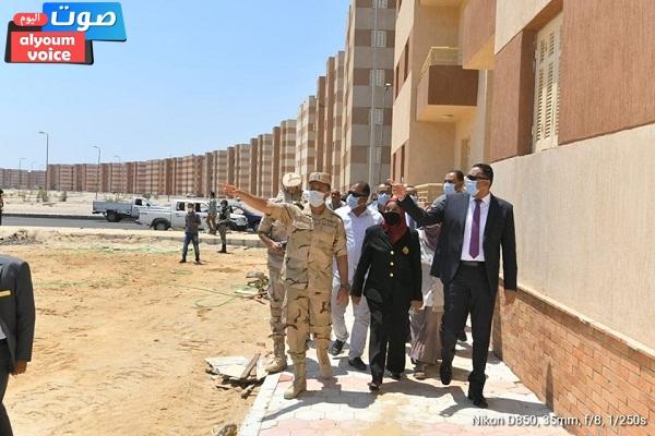 محافظ الدقهلية يتابع التشطيبات النهائية لمشروع الإسكان الاجتماعى بالشيخ زايد بمدينة جمصة