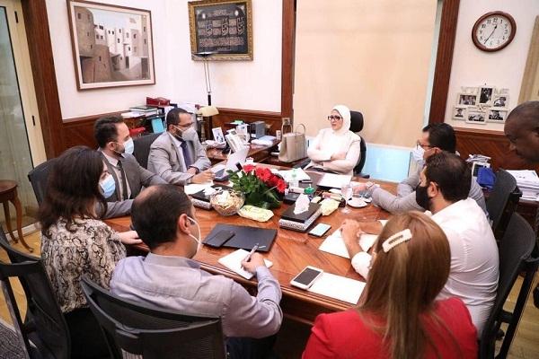وزيرة الصحة تعقد اجتماعًا لمتابعة سير العمل بمبادرة رئيس الجمهورية لدعم صحة المرأة المصرية