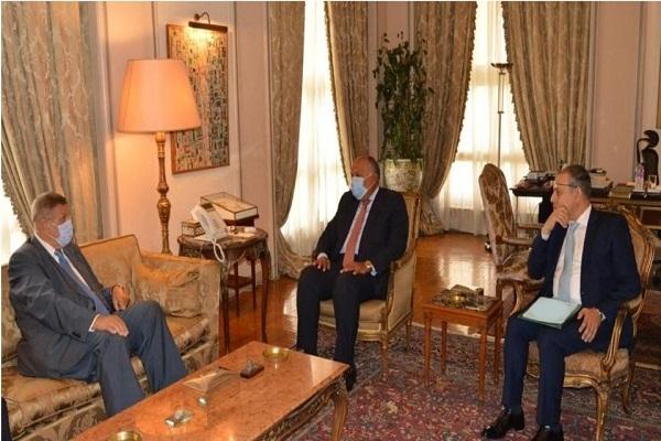 الوزير شكري والمُنسق الأممي الخاص في لبنان يؤكدان ضرورة الاستمرار في دعم لبنان خلال المرحلة الحالية
